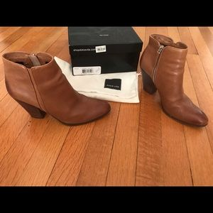 Dolce Vita brown leather booties size 8